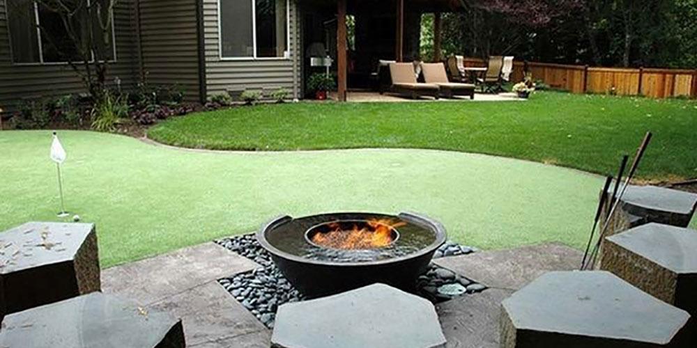 back garden golf green