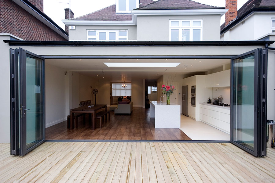 bi fold doors kitchen extension