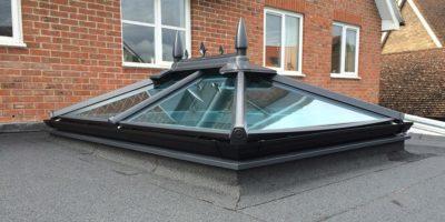 dark grey roof lantern solar glass