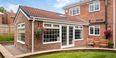 house extension upvc windows french doors
