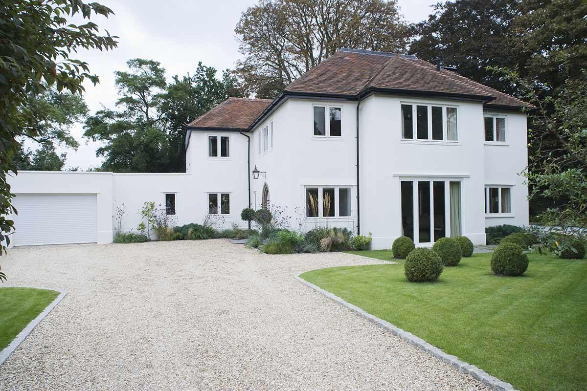 house with new white aluminium windows