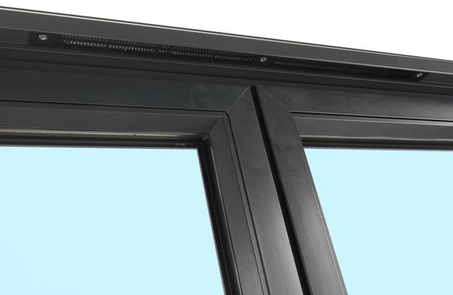 Visofold 1000 integrated trickle vents on bifold doors