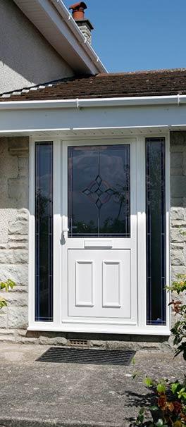 white alitherm aluminium front door